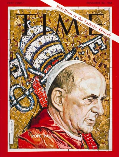 Pope Paul VI on the Nov. 22, 1968, cover of TIME