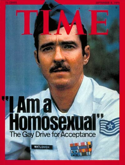 Leonard Matlovich on the Sept. 8, 1975, cover of TIME