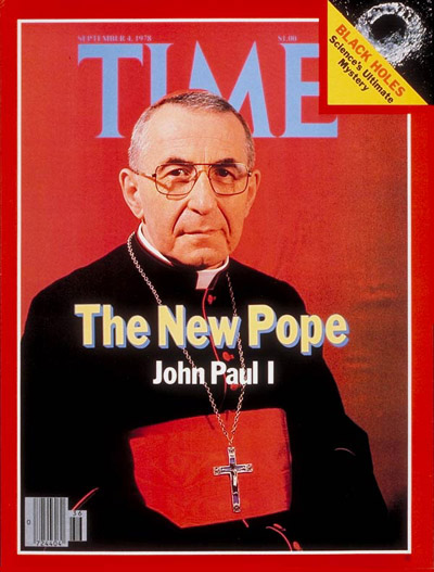 Pope John Paul I on the Sep. 4, 1978, cover of TIME