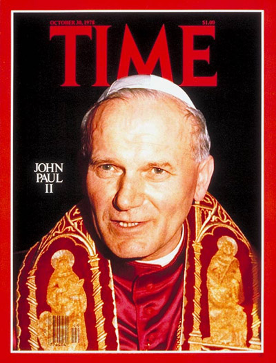 Pope John Paul II on the Oct. 30, 1978, cover of TIME