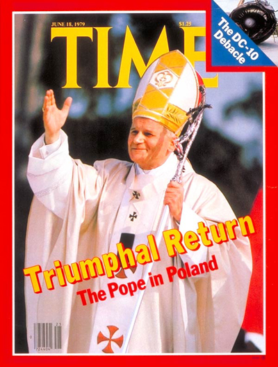 Pope John Paul II on the June 18, 1979, cover of TIME