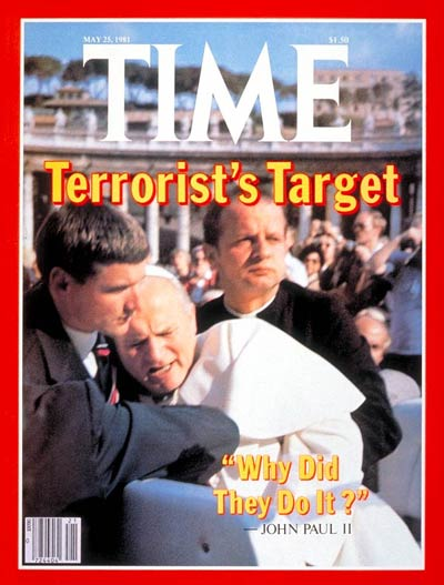 Pope John Paul II on the May 25, 1981, cover of TIME