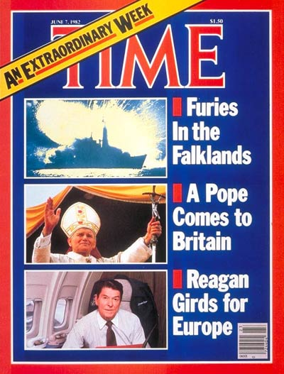 Pope John Paul II on the June 7, 1982, cover of TIME