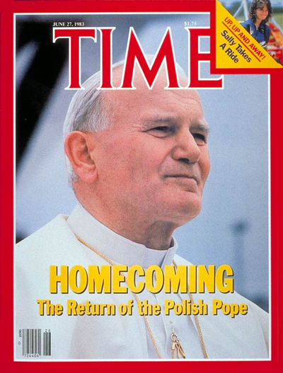 Pope John Paul II on the June 27, 1983, cover of TIME
