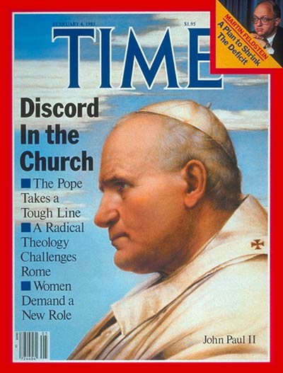 Pope John Paul II on the Feb. 4, 1985, cover of TIME