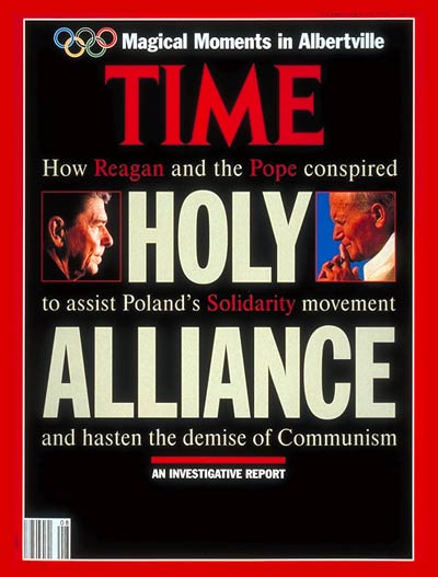 Pope John Paul II on the Feb. 24, 1992, cover of TIME