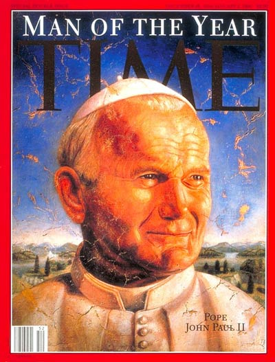 Pope John Paul II, Person of the Year, on the Dec. 26, 1994, cover of TIME