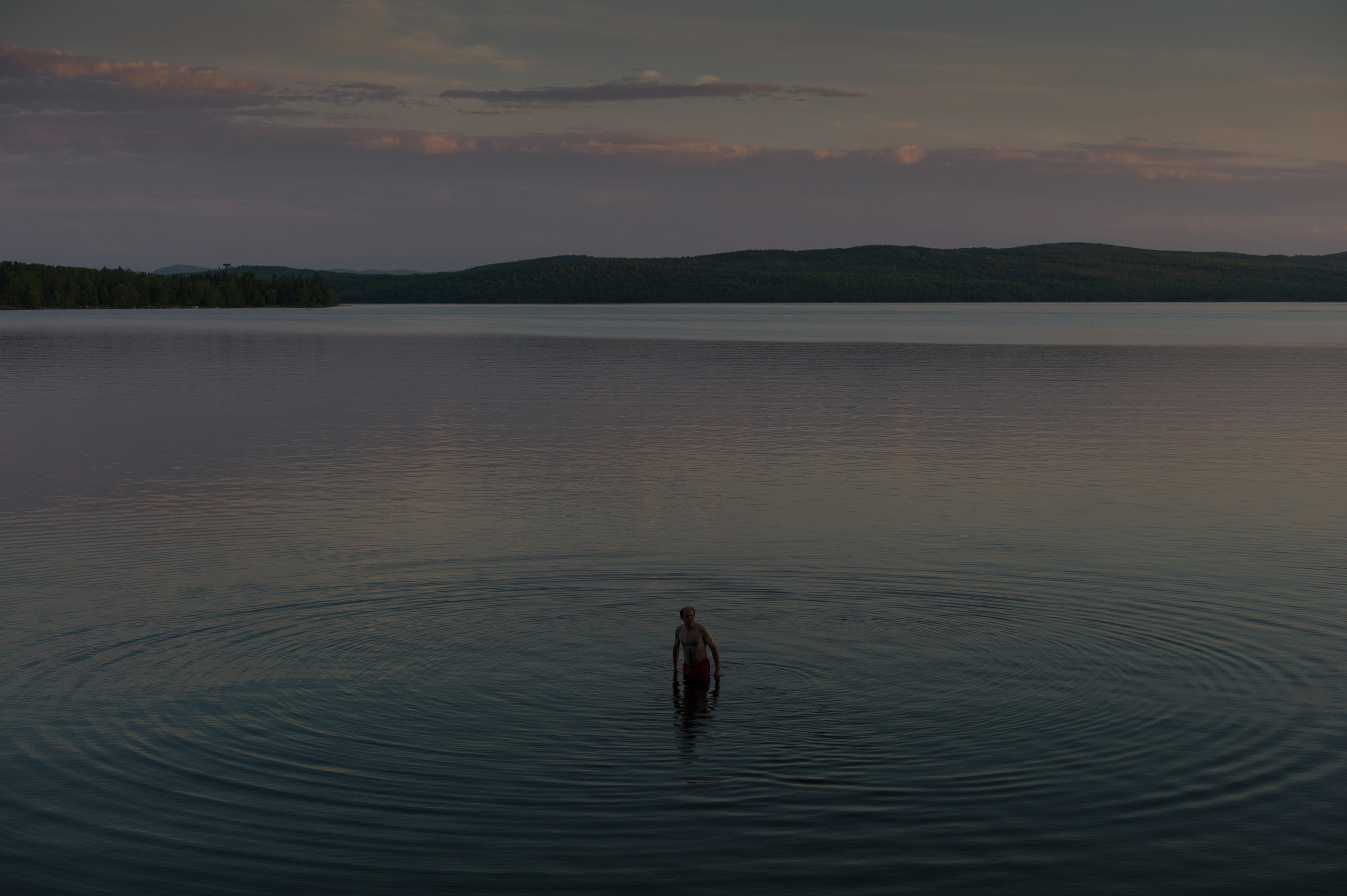 Jacques, first swim of the year in Lac MÈgantic, June 2014.