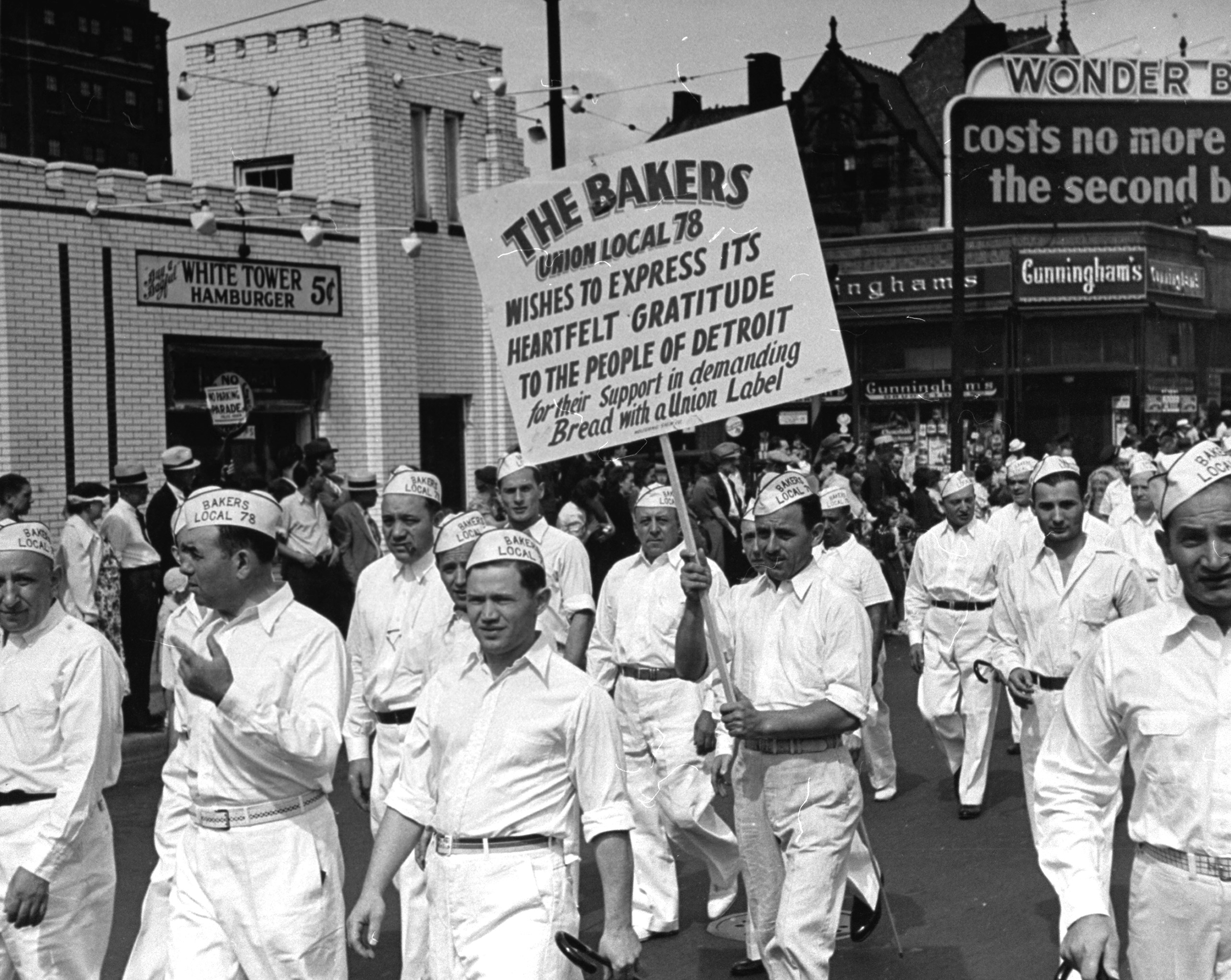 Scenes from a Labor Day Parade in Detroit, 1938.