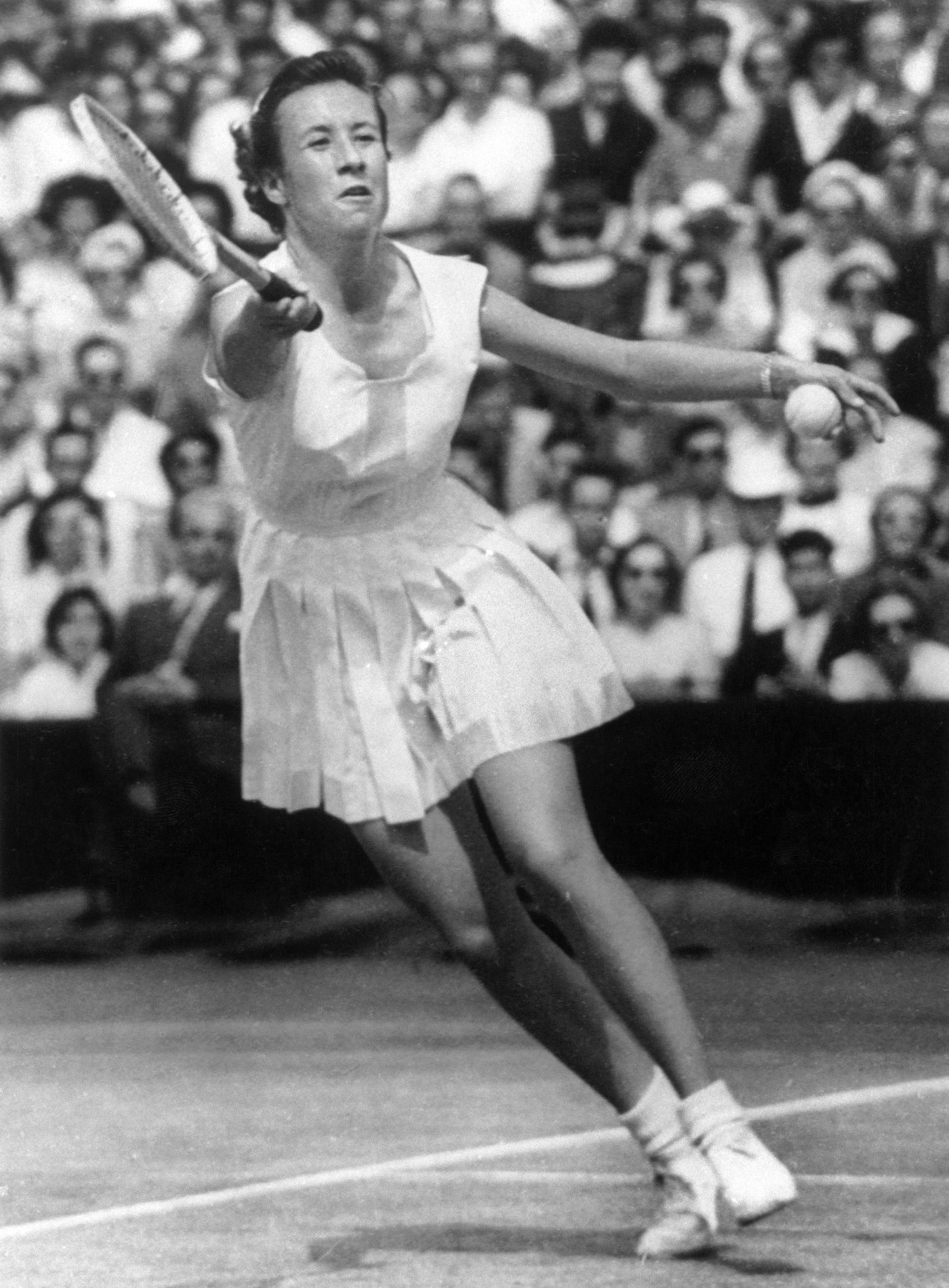 Maureen Connolly at Wimbeldon, July 4, 1953.