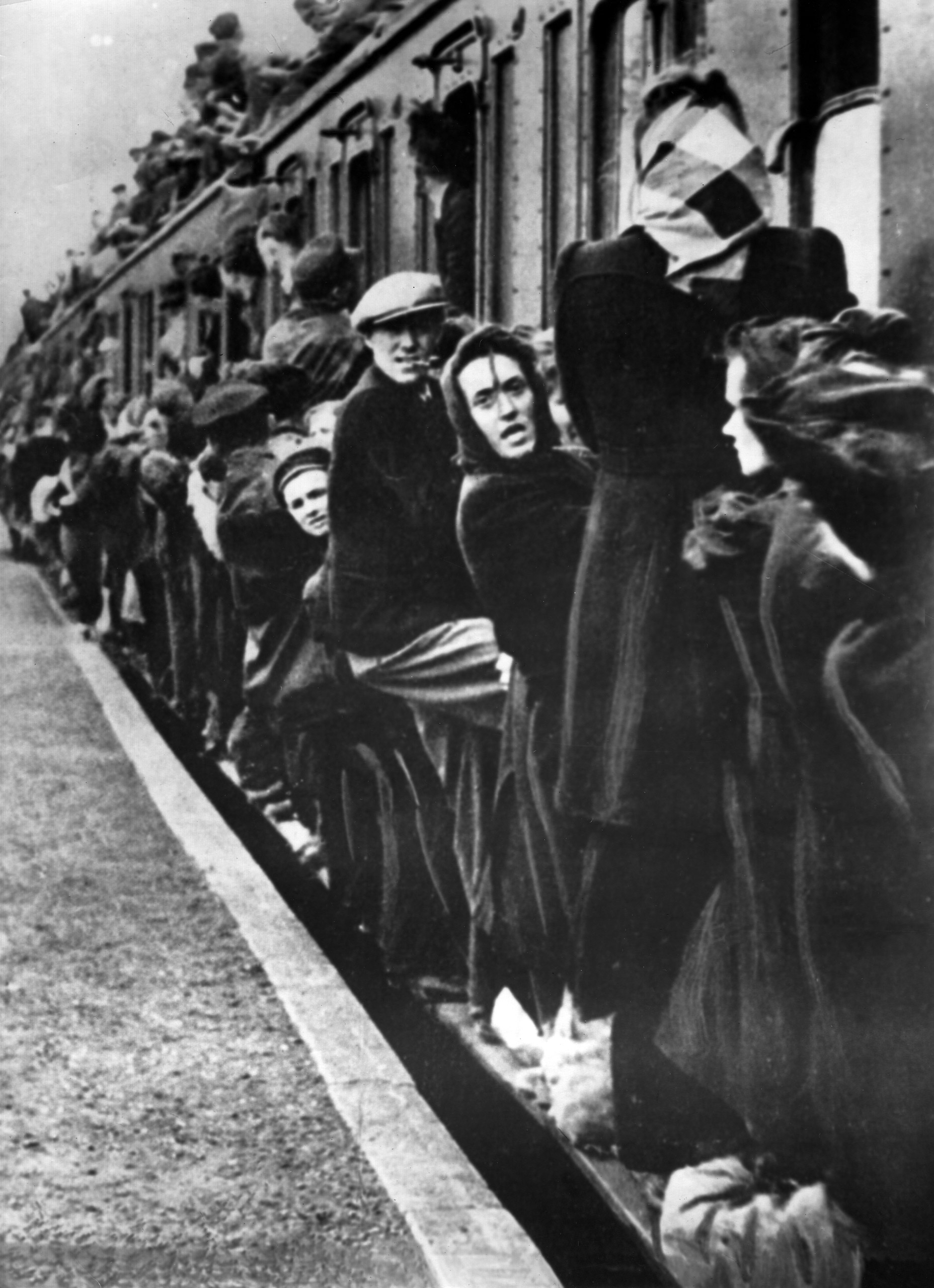 Refugees from eastern Germany around 1944-1945.