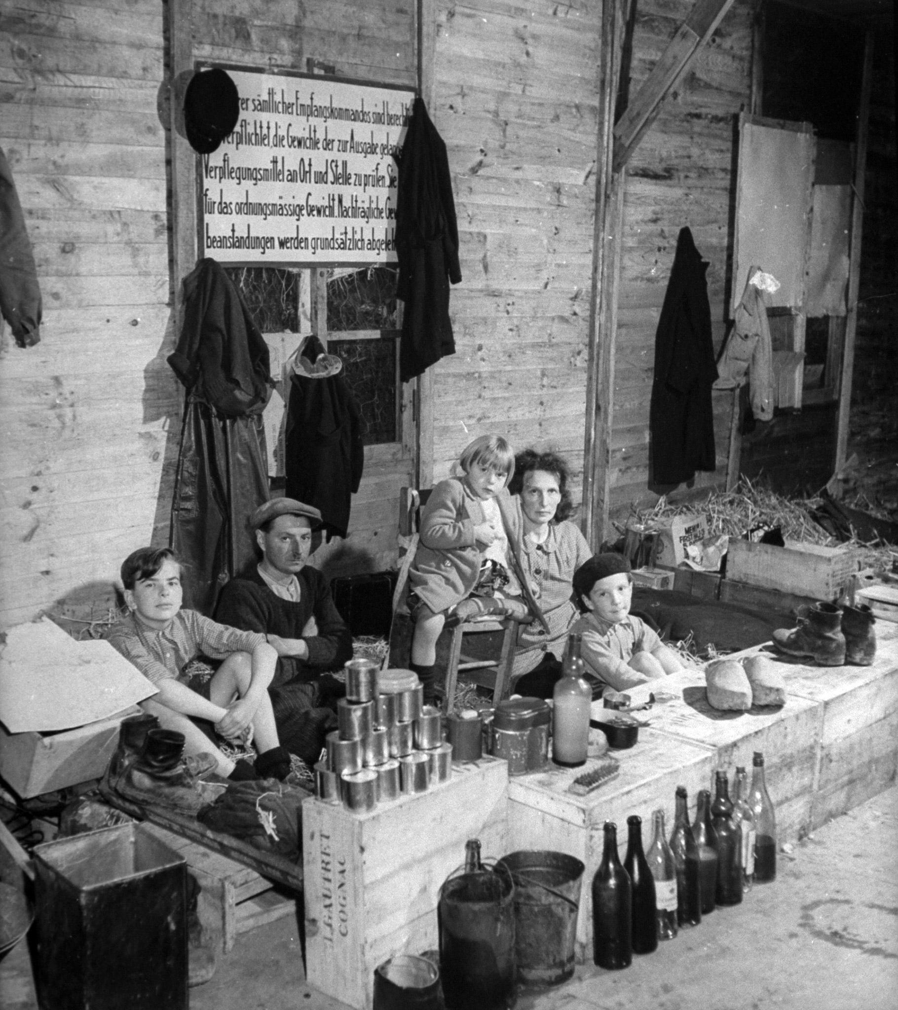 A Civil Affairs Refugee Camp in France, 1944.