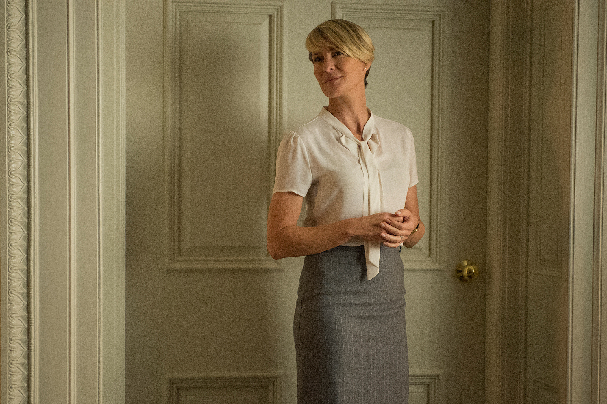 """Robin Wright as Claire Underwood in """"House of Cards"""" on Netflix"""