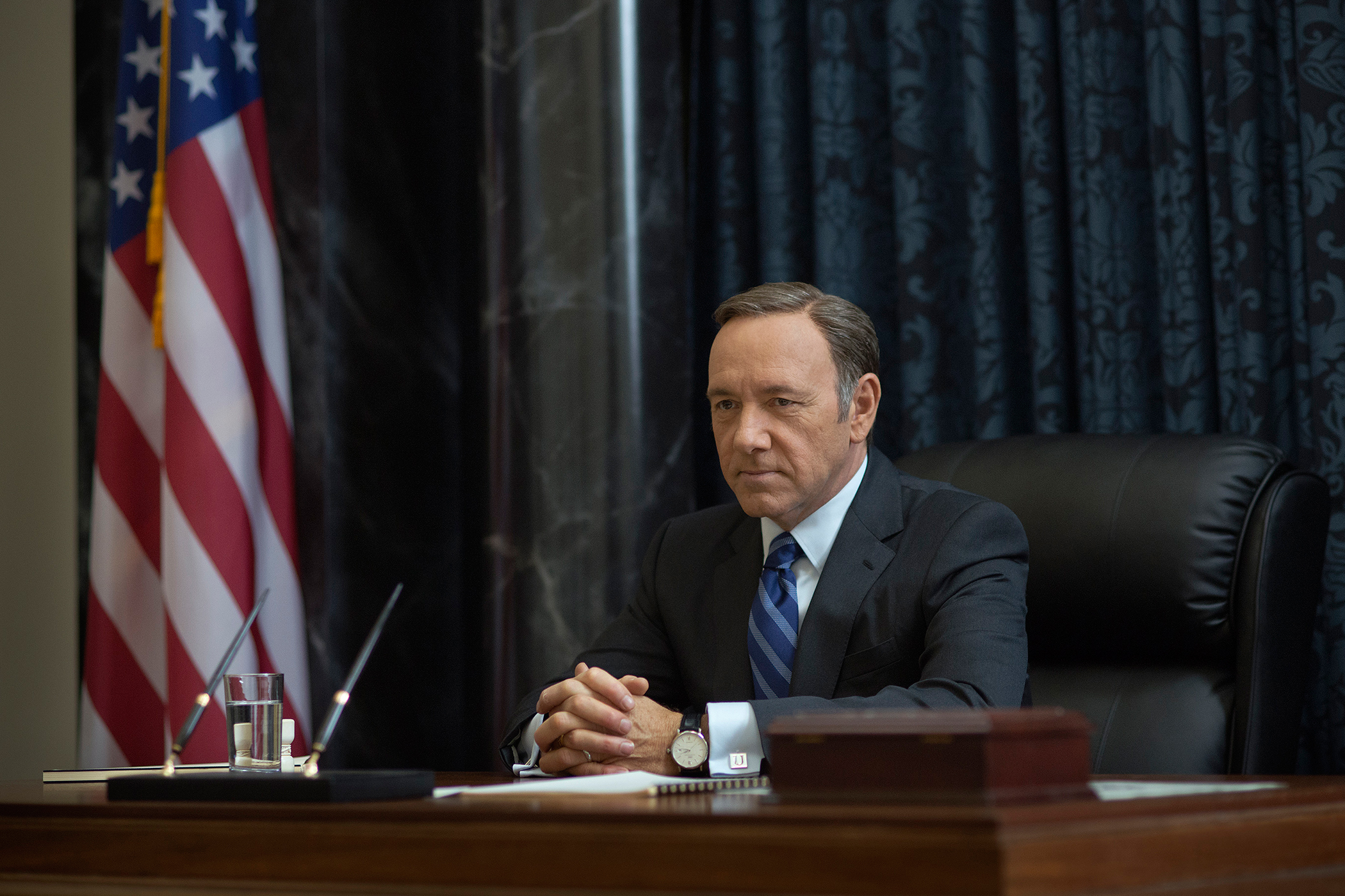 """Kevin Spacey as Frank Underwood in  House of Cards"""" on Netflix"""