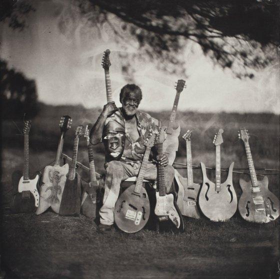 Freeman Vines, Luthier, Fountain, NC, 2015. Tintype 35.6 x 35.6 cm.