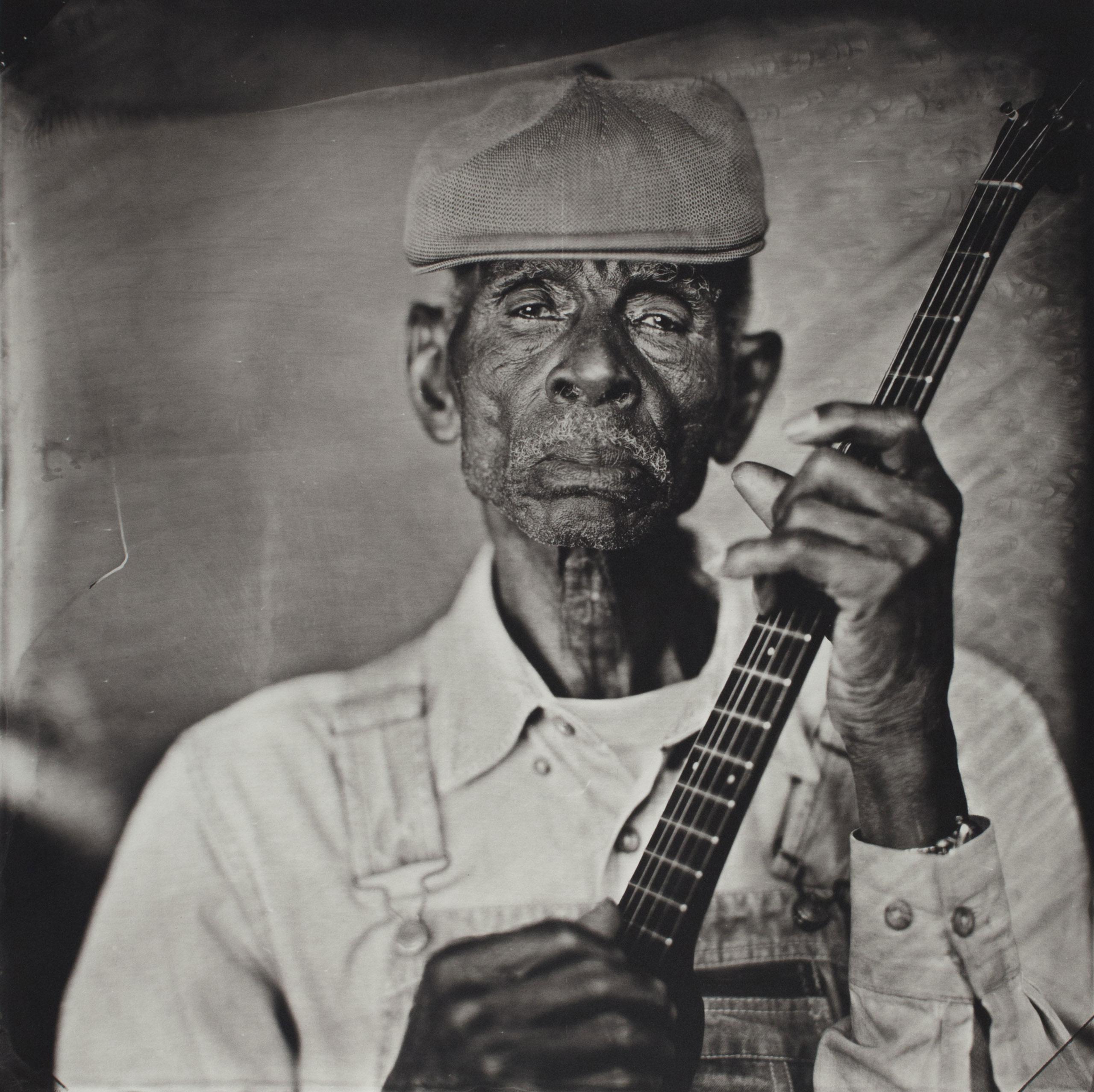 John Dee Holeman, Piedmont Blues,                               Durham, NC 2015. Platinum print.