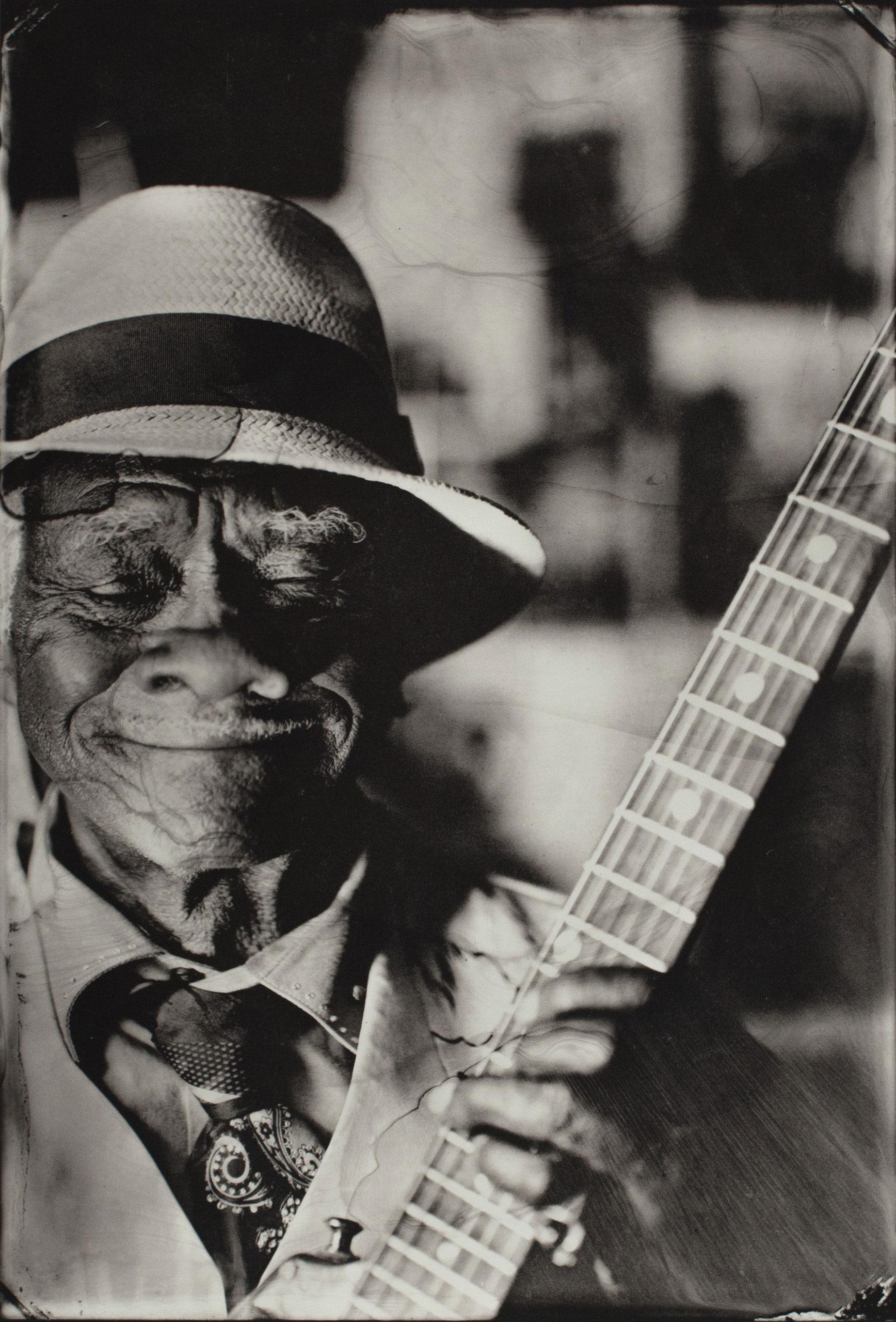 Little Freddie King, Gutbucket Blues, McComb, MS, 2014. Platinum print.