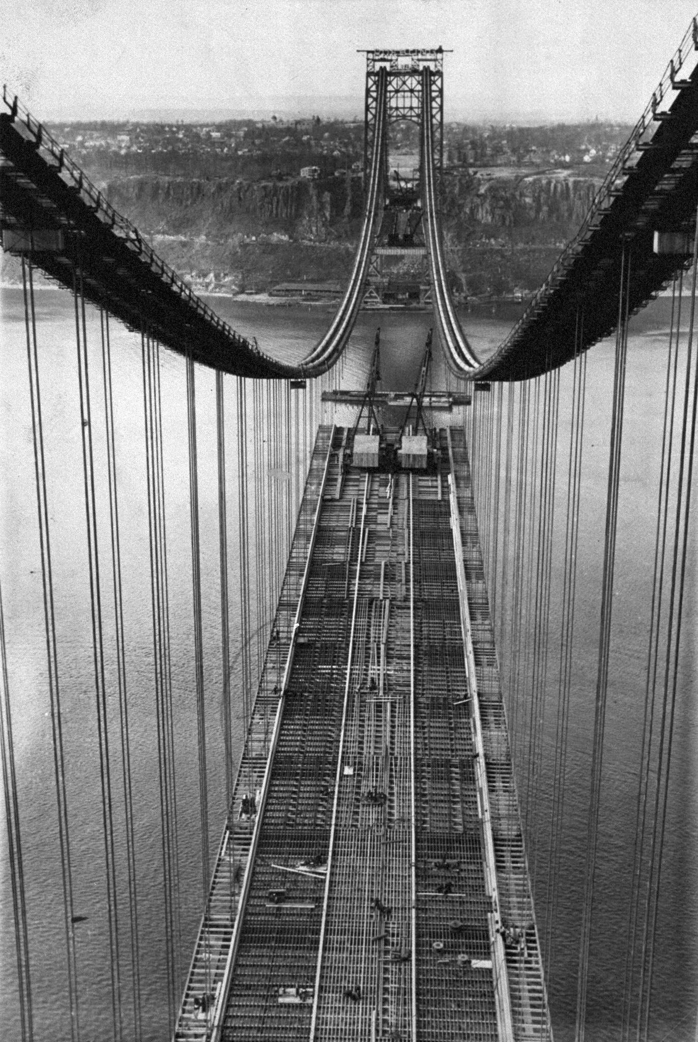 George Washington Bridge. Dec. 21, 1930.