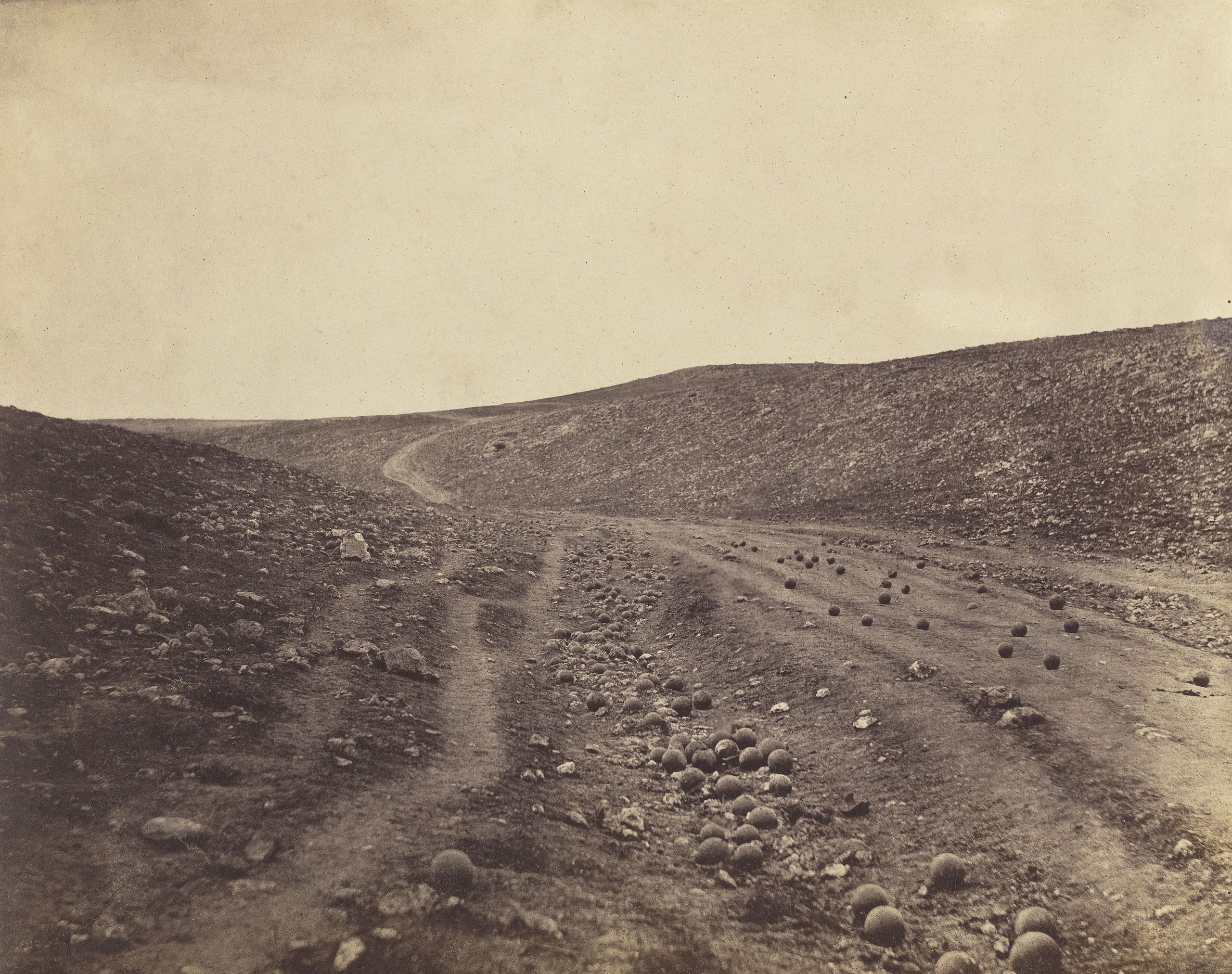 The Valley of the Shadow of Death by Roger Fenton, 1855.