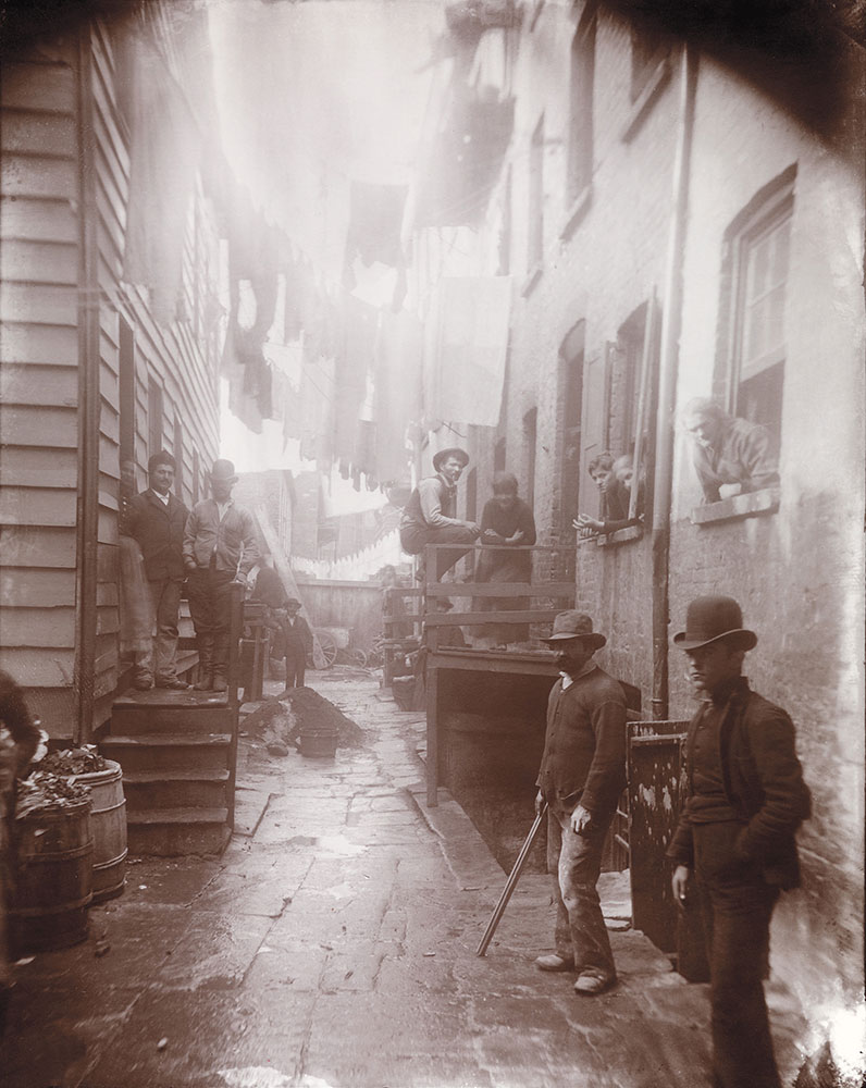 Bandit's Roost, 59½ Mulberry Street by Jacob Riis, ca. 1888.