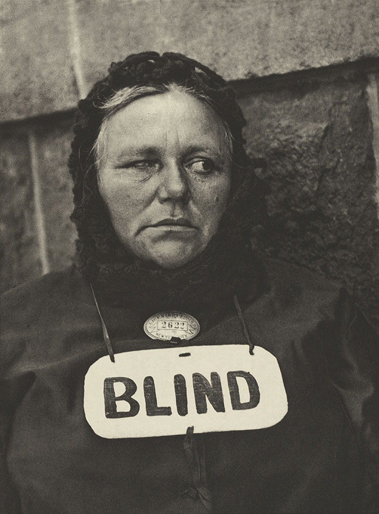 Blind by Paul Strand, 1916.