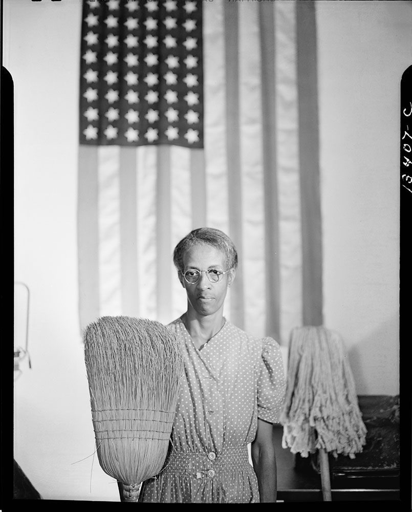 American Gothic by Gordon Parks, 1942.