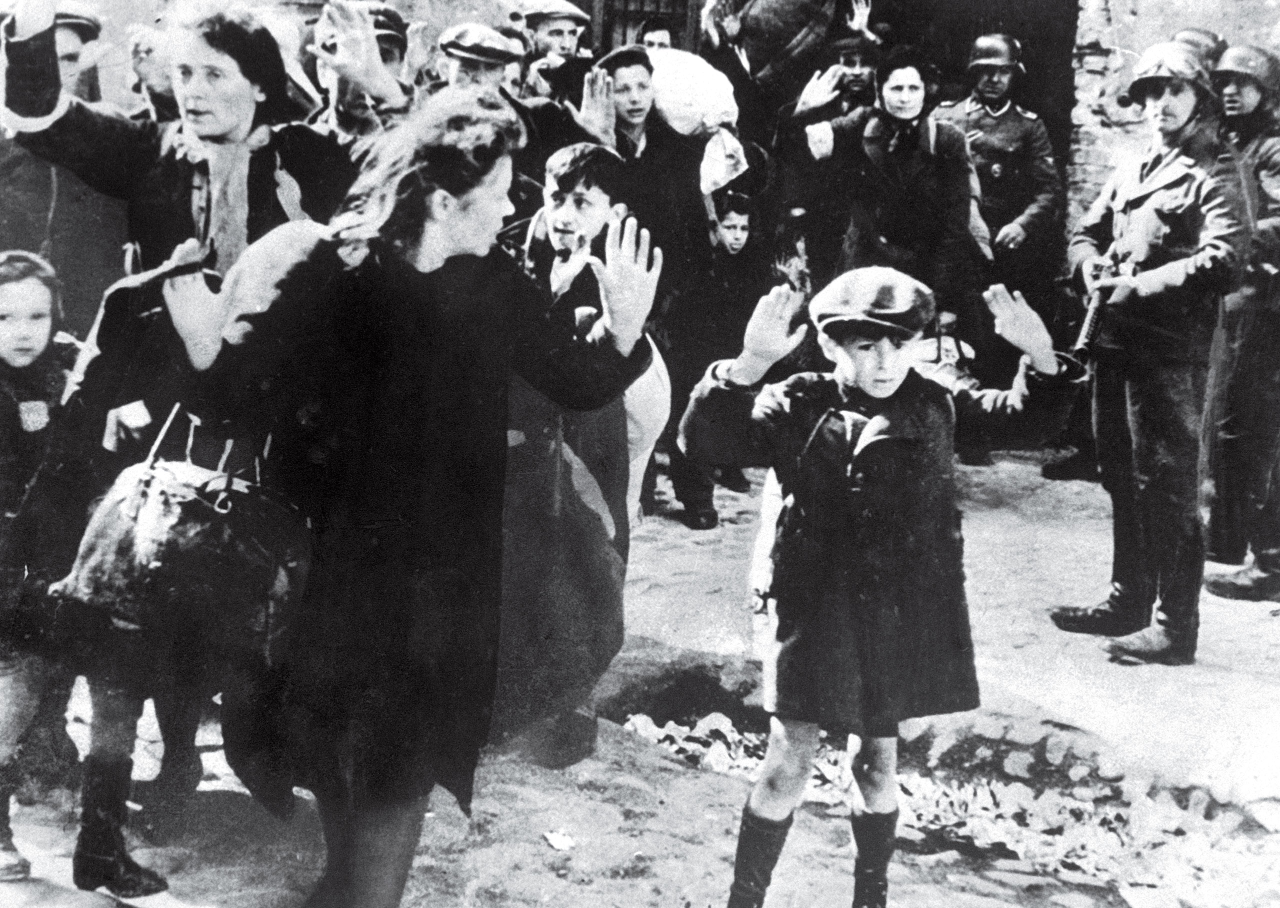 Jewish Boy Surrenders in Warsaw by Unknown Photographer, 1943.