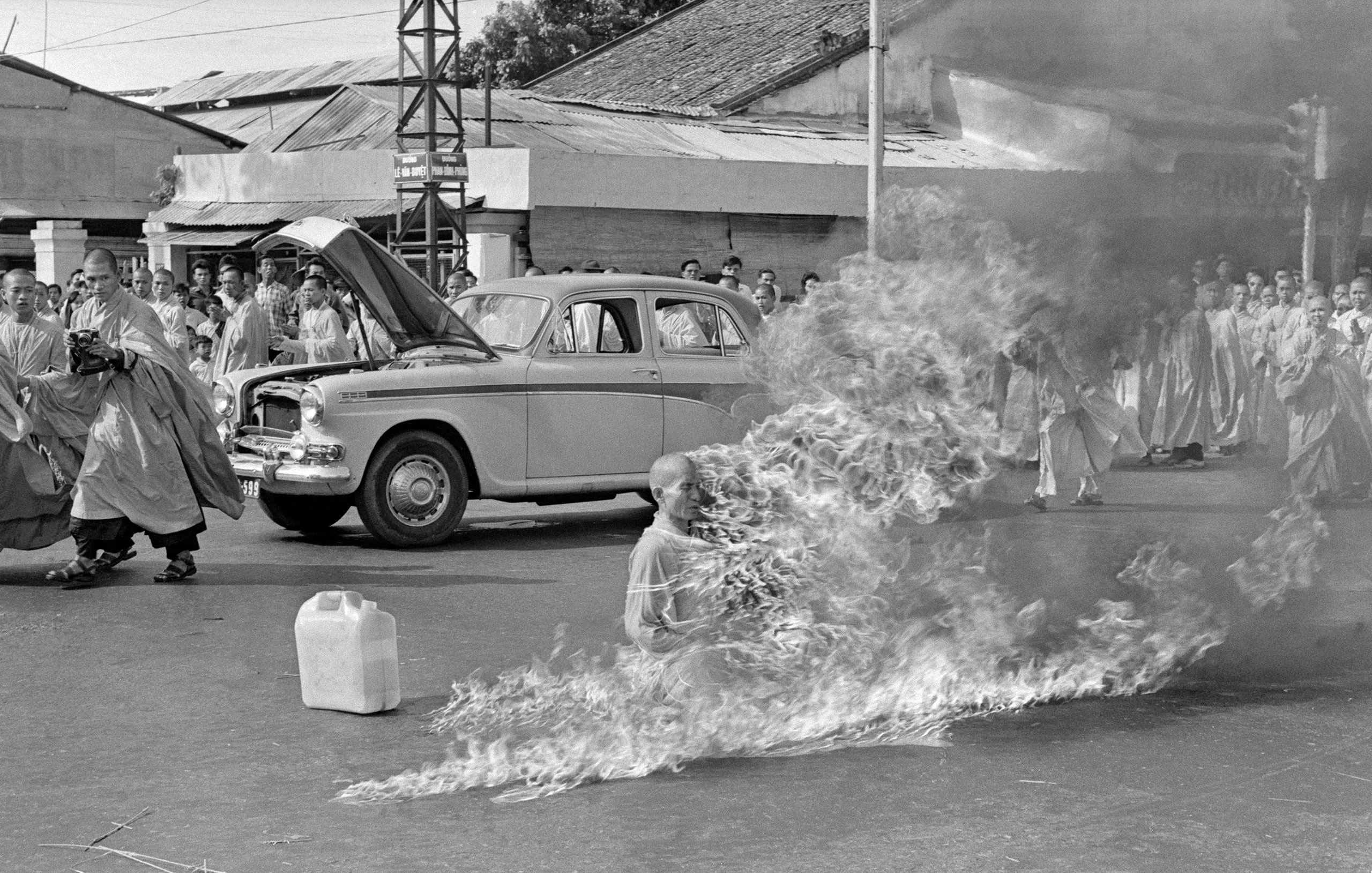 The Burning Monk by Malcolm Browne, 1963.