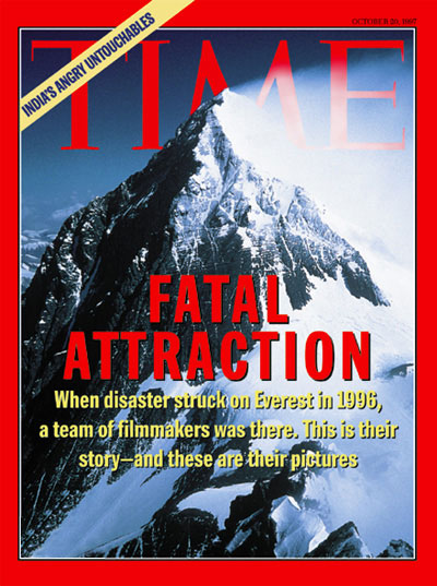 The Oct. 20, 1997, cover of the Europe/Asia edition of TIME