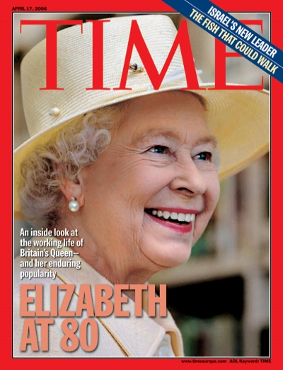 Queen Elizabeth on the Apr. 17, 2006, cover of TIME's Europe edition, at the time of her 80th birthday