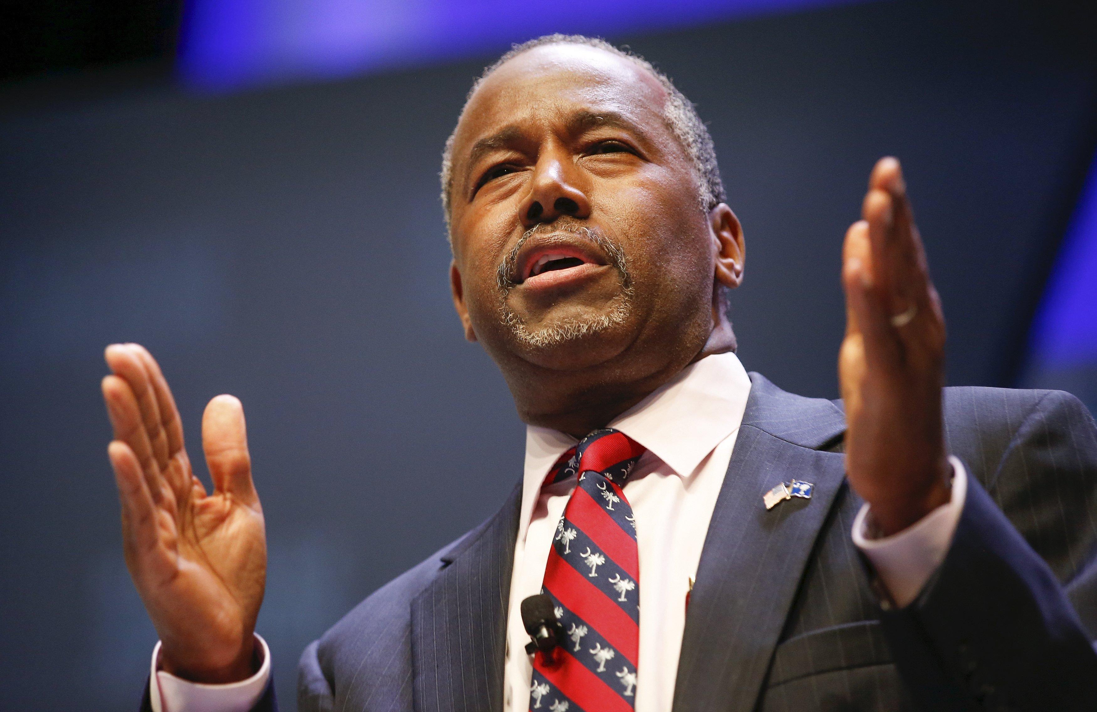 U.S. Republican candidate Dr. Ben Carson