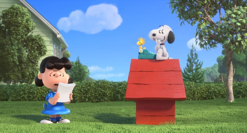Lucy, Snoopy and Woodstock in the new movie