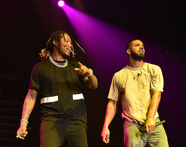 Future and Drake perform onstage at Hot 107.9 Birthday Bash Block Show at Phillips Arena on June 20, 2015 in Atlanta, Georgia