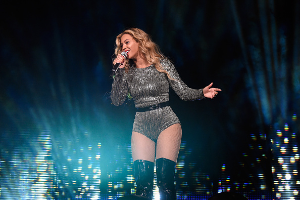 Beyonce performs onstage during the 2015 Budweiser Made in America Festival at Benjamin Franklin Parkway in Philadelphia on Sept. 5, 2015.