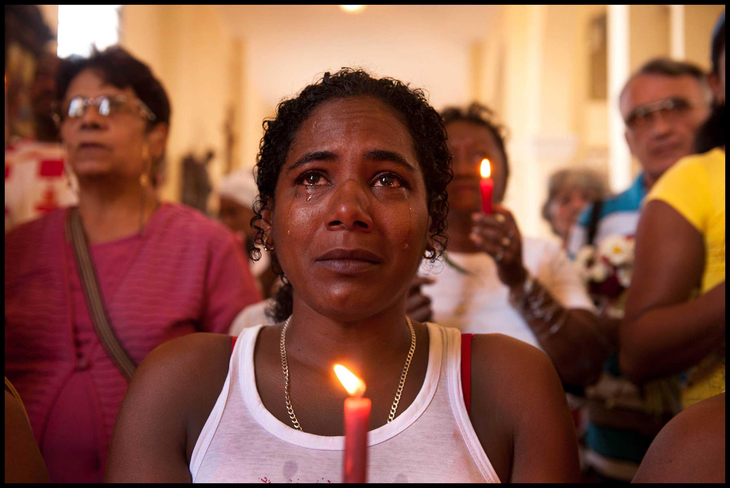 Iglesia de Santa Barbara, Parraga, Havana, 2013