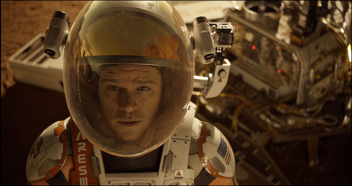 Astronaut Mark Watney (Matt Damon) finds himself stranded and alone on Mars, in 'The Martian'