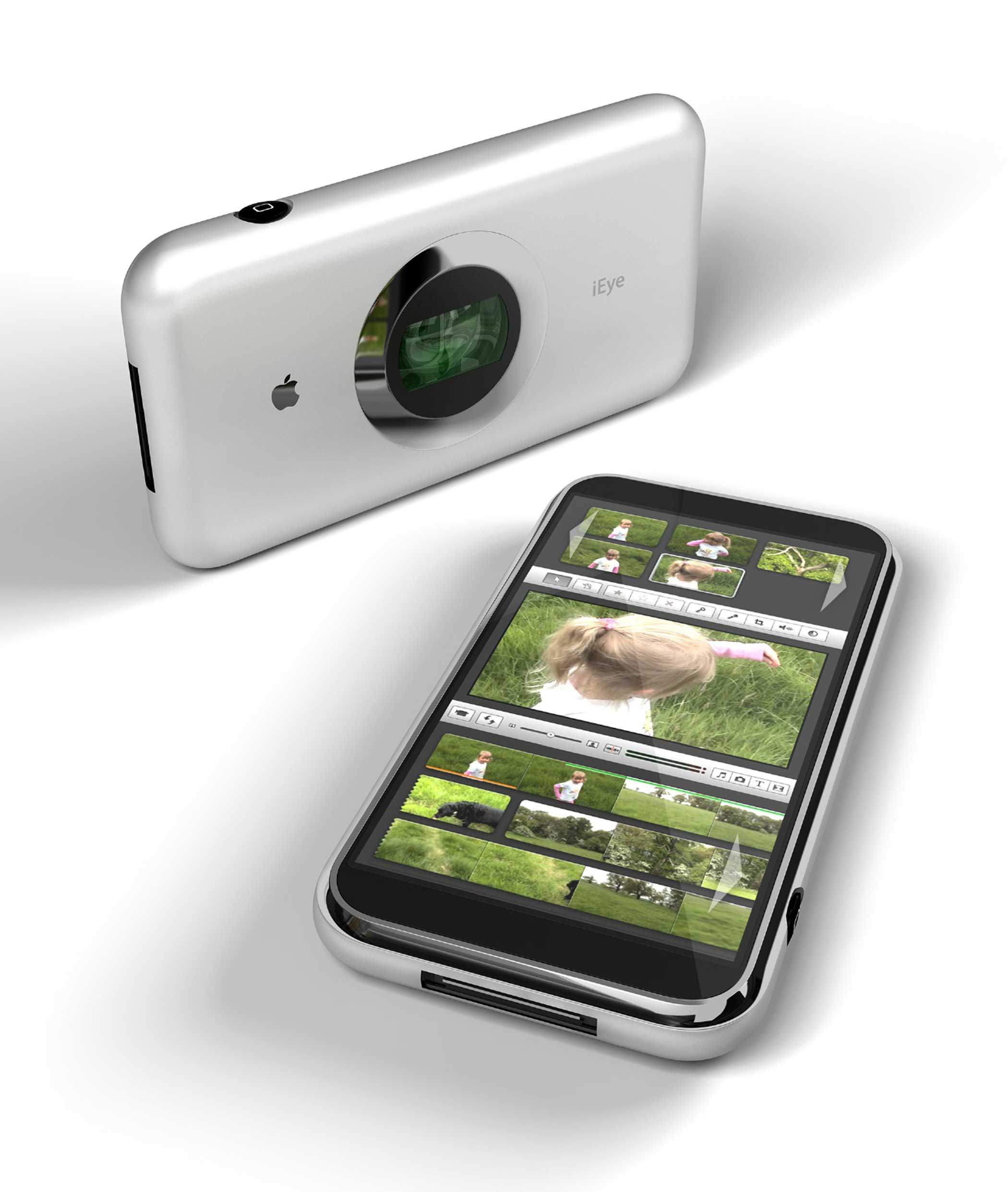 2007: iEye This camera focused iPhone would have had 5.1 megapixels, ahead of its time for 2007 but far behind what current iPhones have.