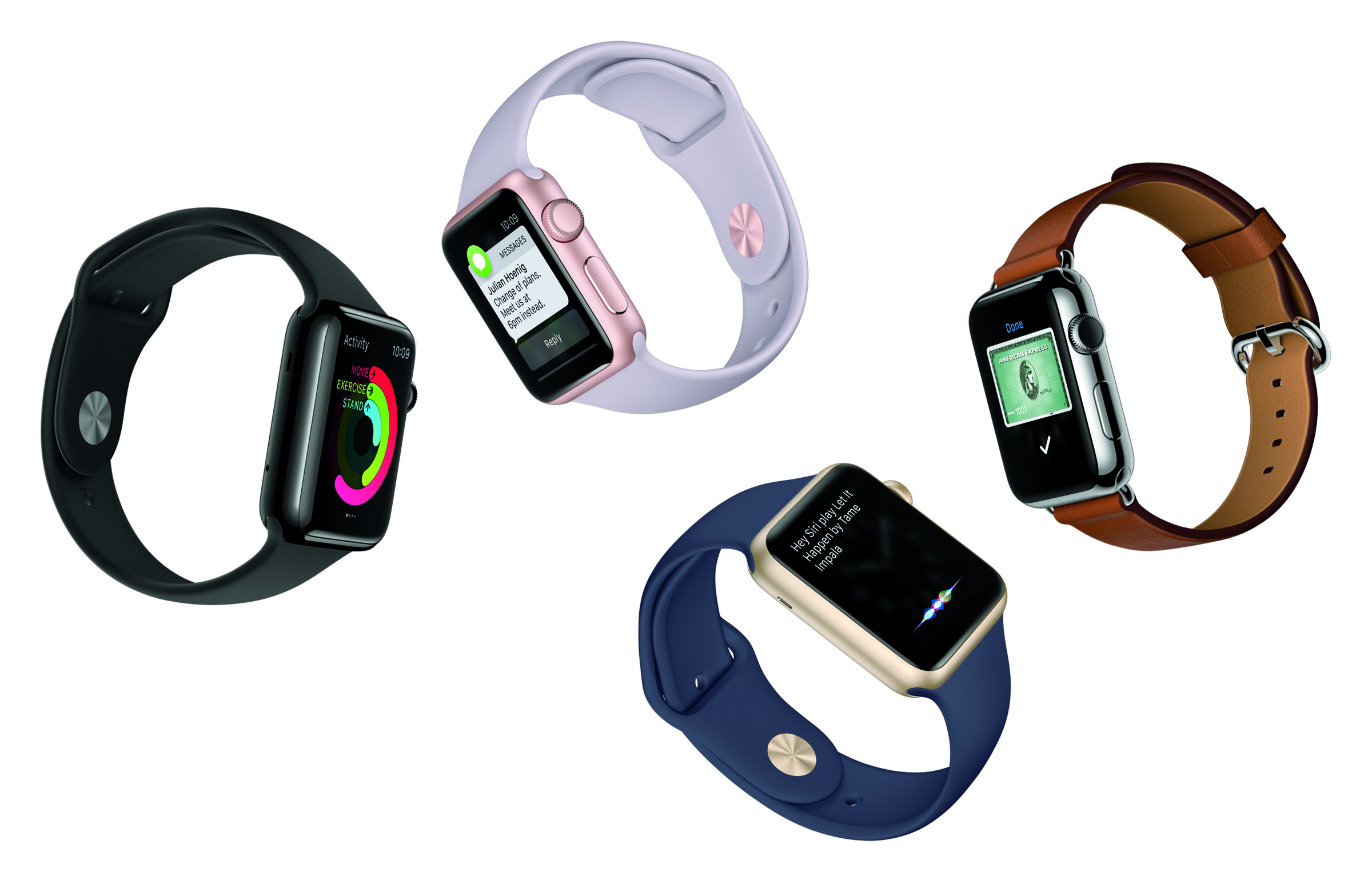 WatchOS 2 with native apps and new gold and rose gold aluminum Apple Watch sport models