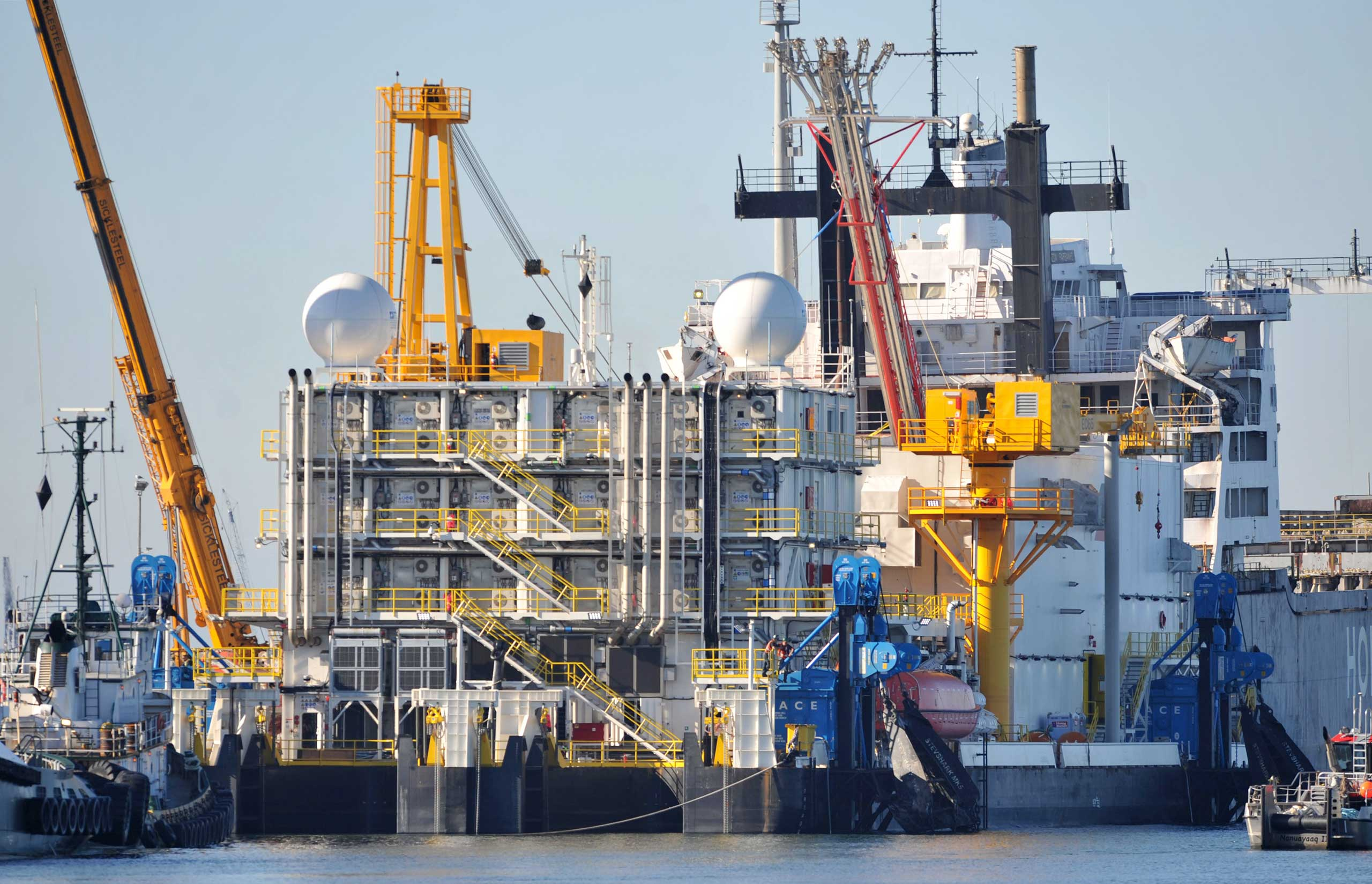 Problems on the Arctic Challenger, at the Port of Bellingham in Washington, has caused Shell to give up for the year on drilling for oil in the Arctic waters off Alaska,  Sept. 17, 2012.