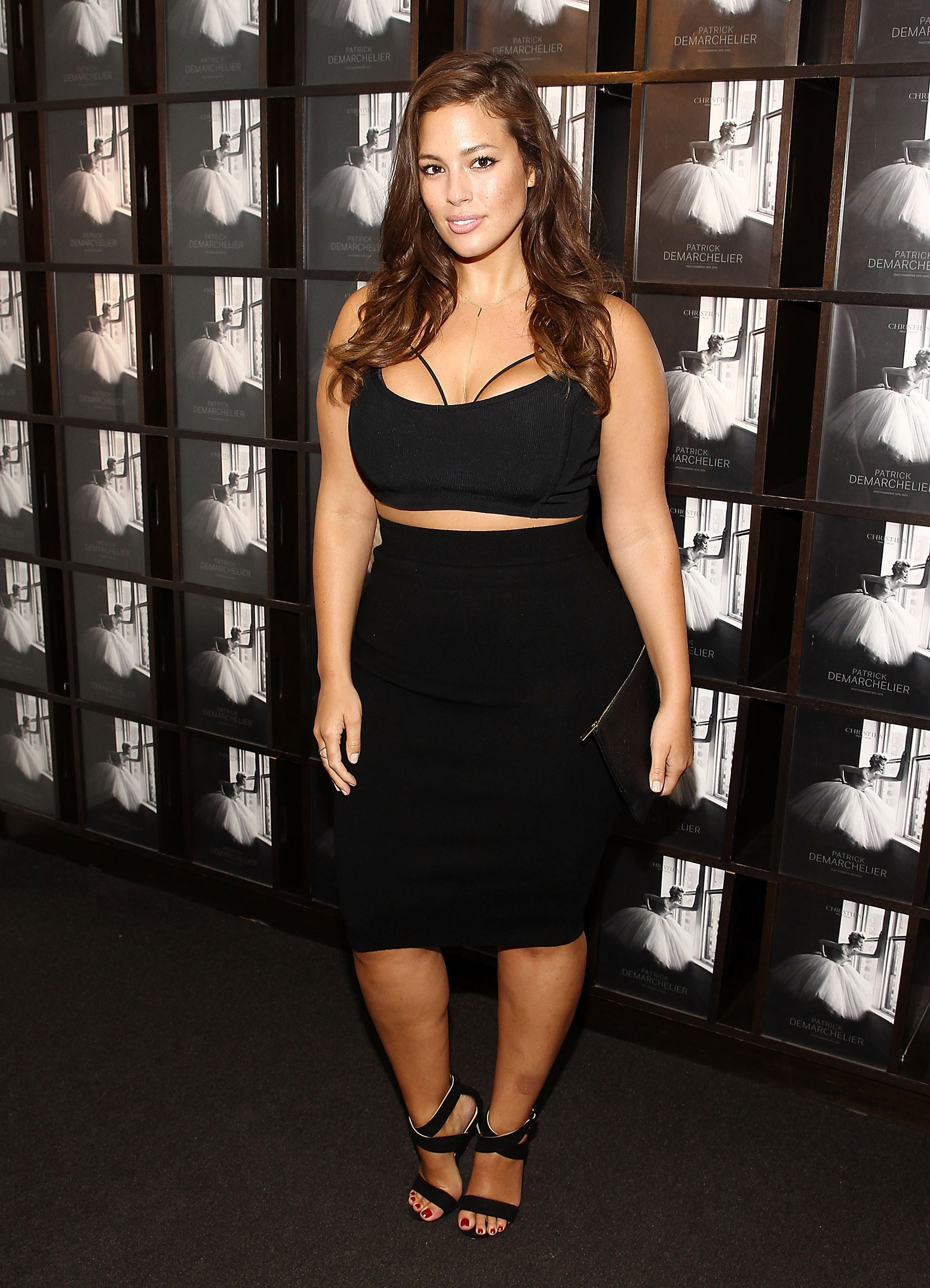 Model Ashley Graham attends the  Patrick Demarchelier  special exhibition preview to celebrate NYFW at Christie's in New York, on Sept. 9, 2015.
