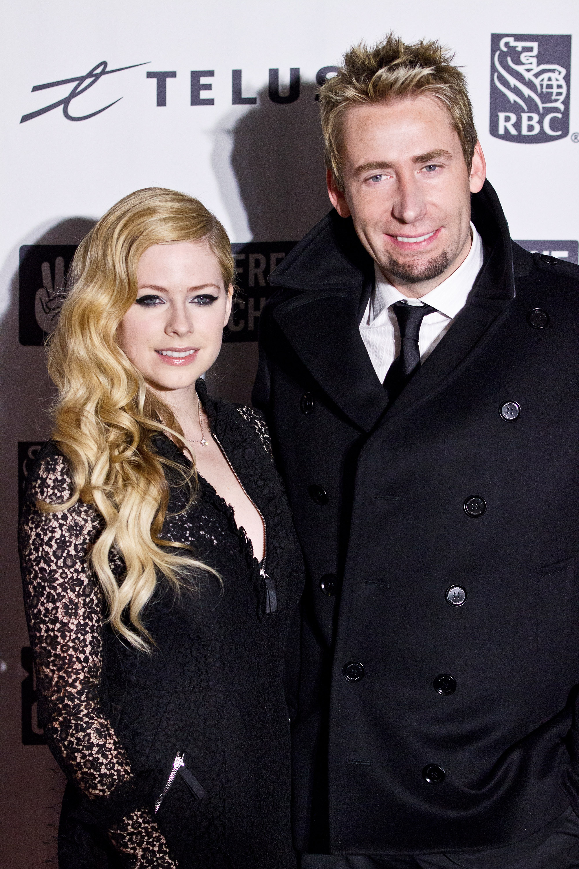 Avril Lavigne and Chad Kroeger at  We Day  event in Vancouver on Oct. 18, 2013.