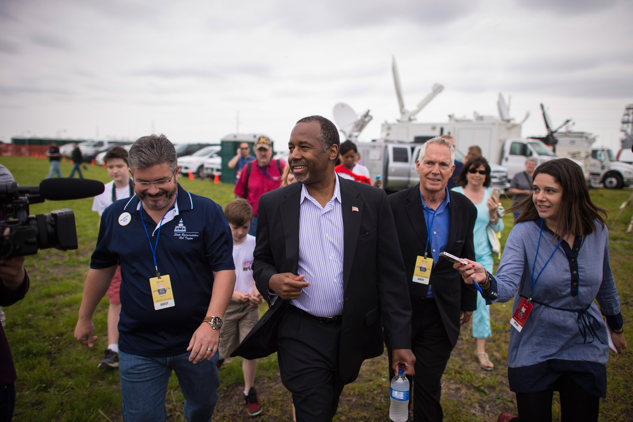 Ben Carson at a political fund-raiser for GOP candidates on June 6, 2015, in Boone, Iowa.