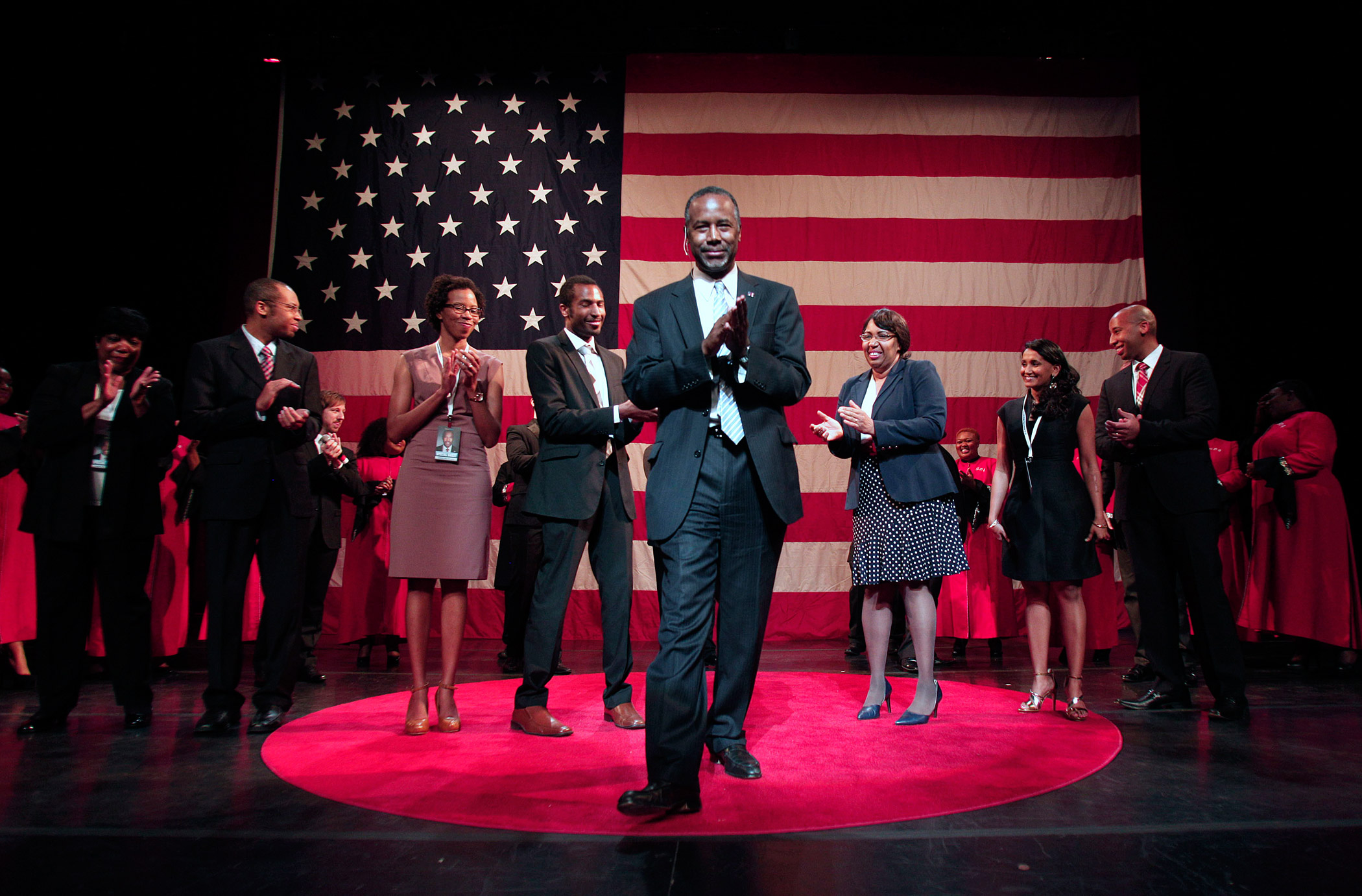 Ben Carson officially announces his candidacy for President of the United States on May 4, 2015 in Detroit.