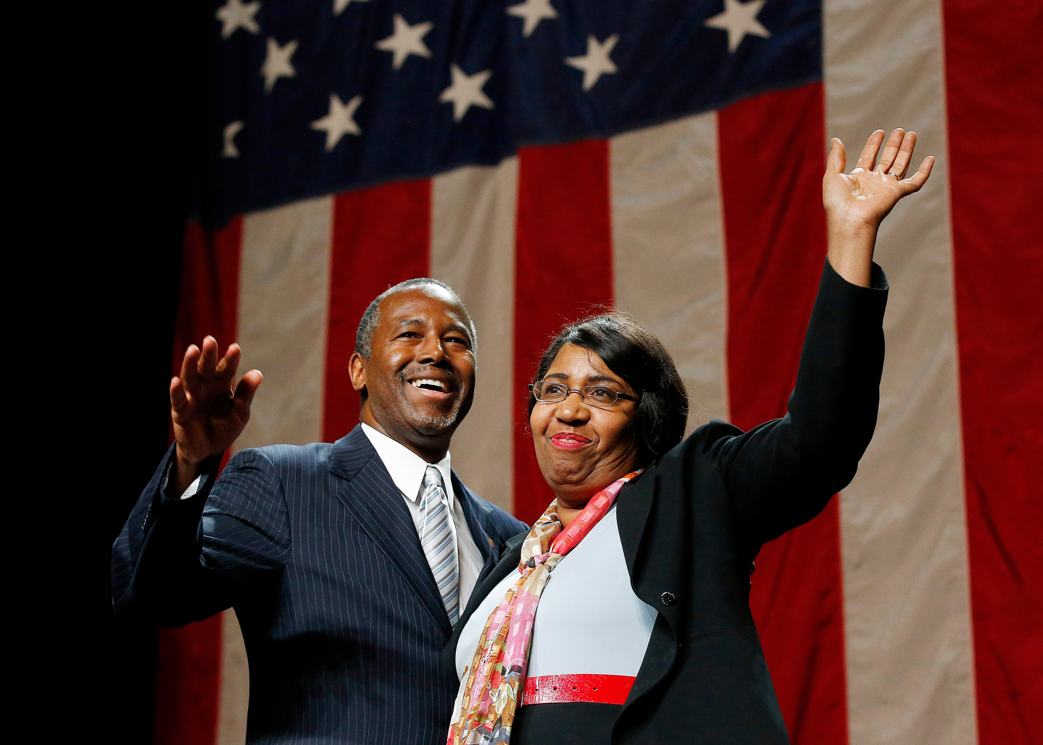 Ben Carson and his wife Candy on Aug. 18, 2015 in Phoenix.