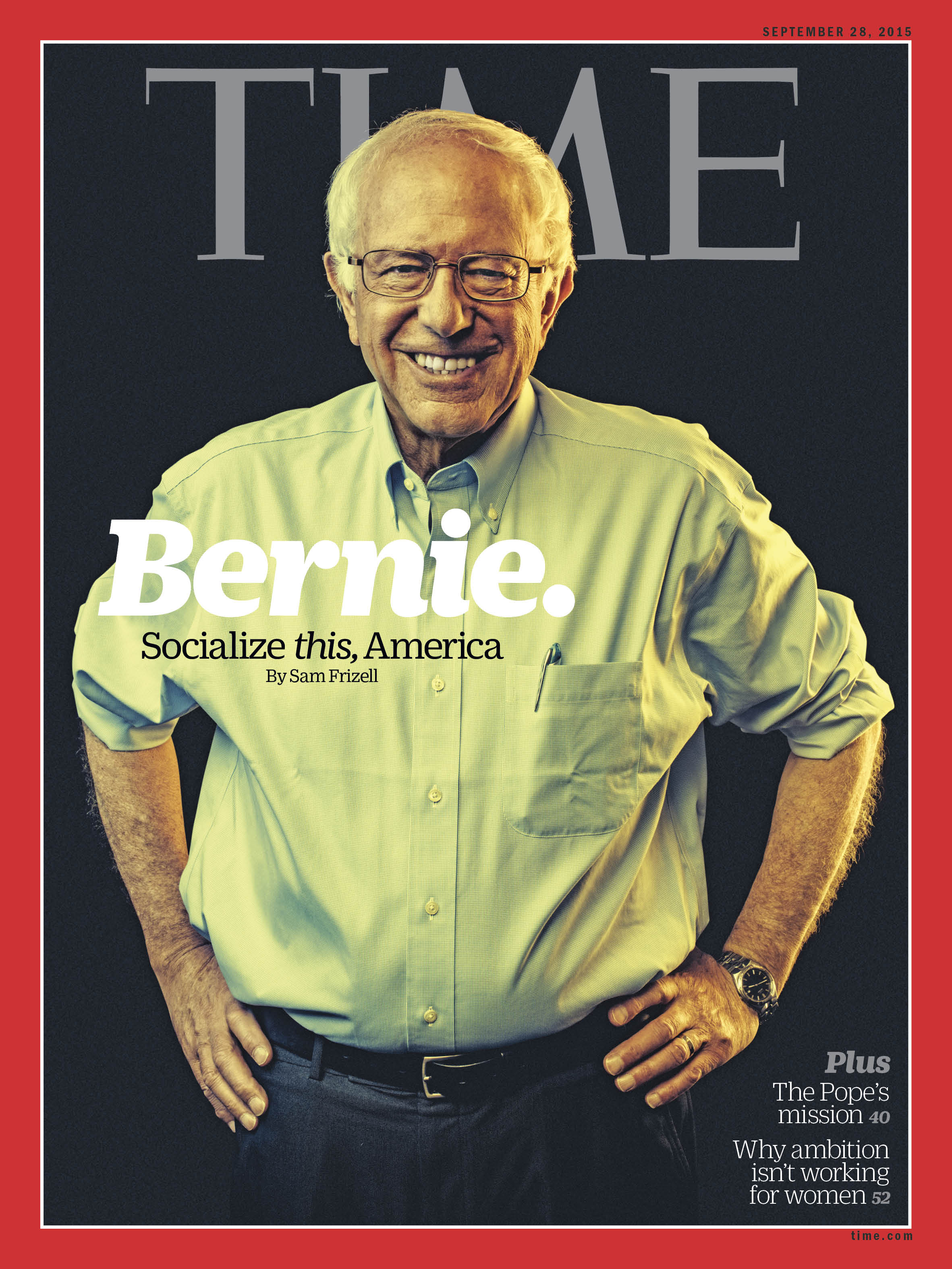Bernie Sanders, photographed on Sep. 15