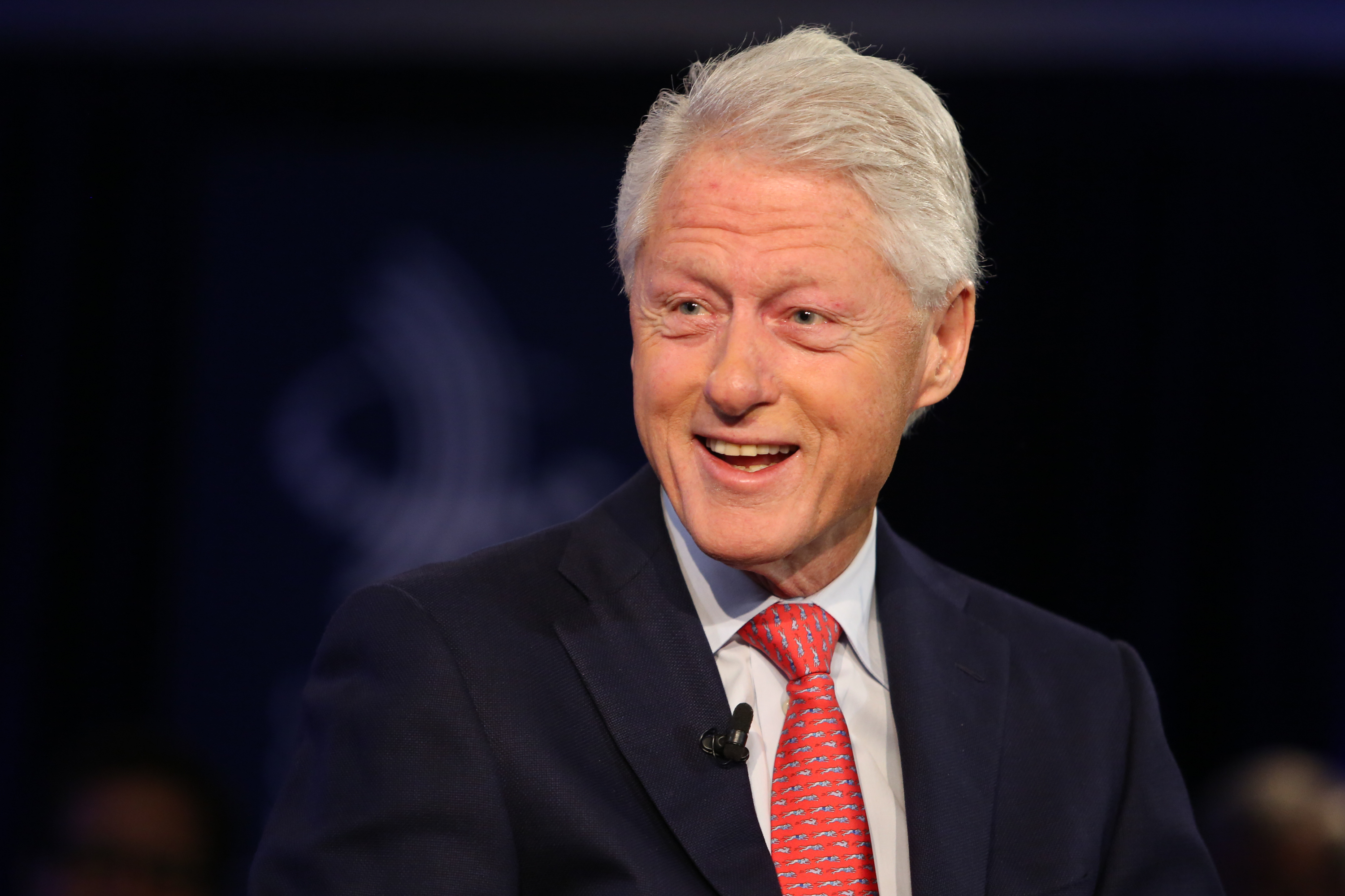 Bill Clinton speaks at an interview, during the Clinton Global Initiative Annual Meeting, in New York City on Sept. 28, 2015.