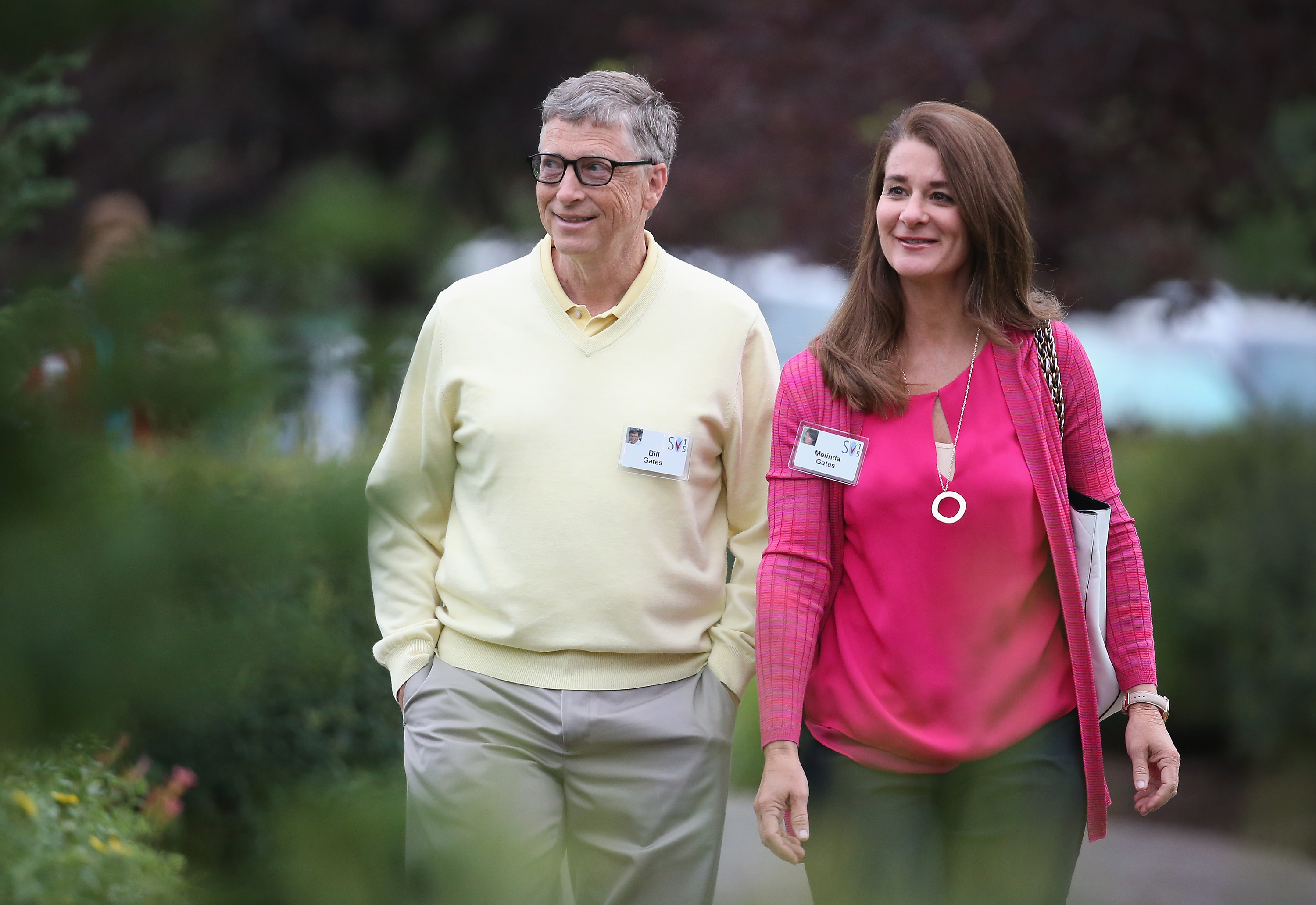 Bill and Melinda Gates at the Allen & Company Sun Valley Conference in Sun Valley, Idaho on July 11, 2015.