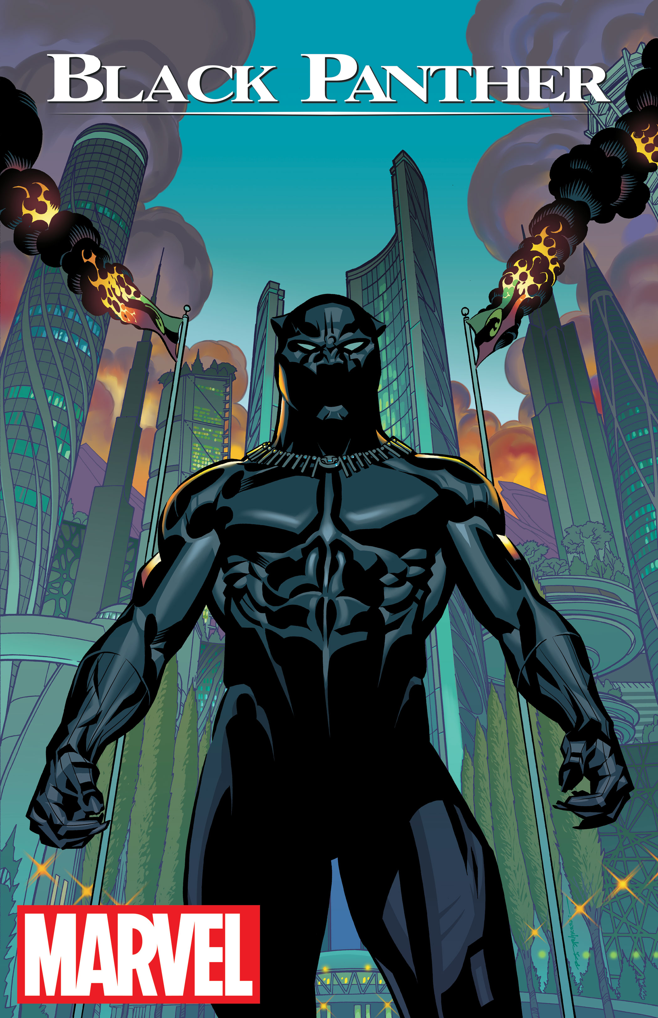 Black Panther No. 1 Cover drawn by Brian Stelfreeze