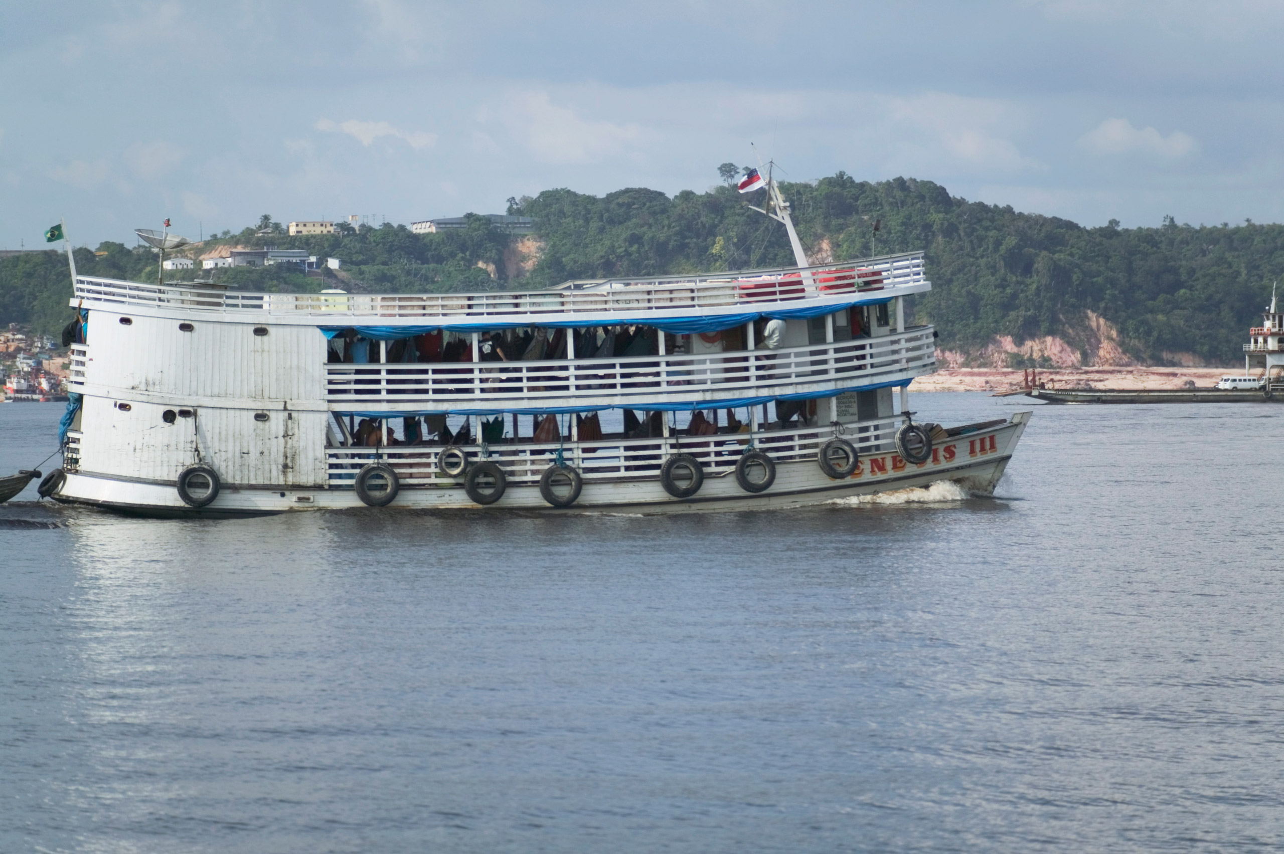 Brazil, Amazonas, nr Manaus, passenger ferry crossing river