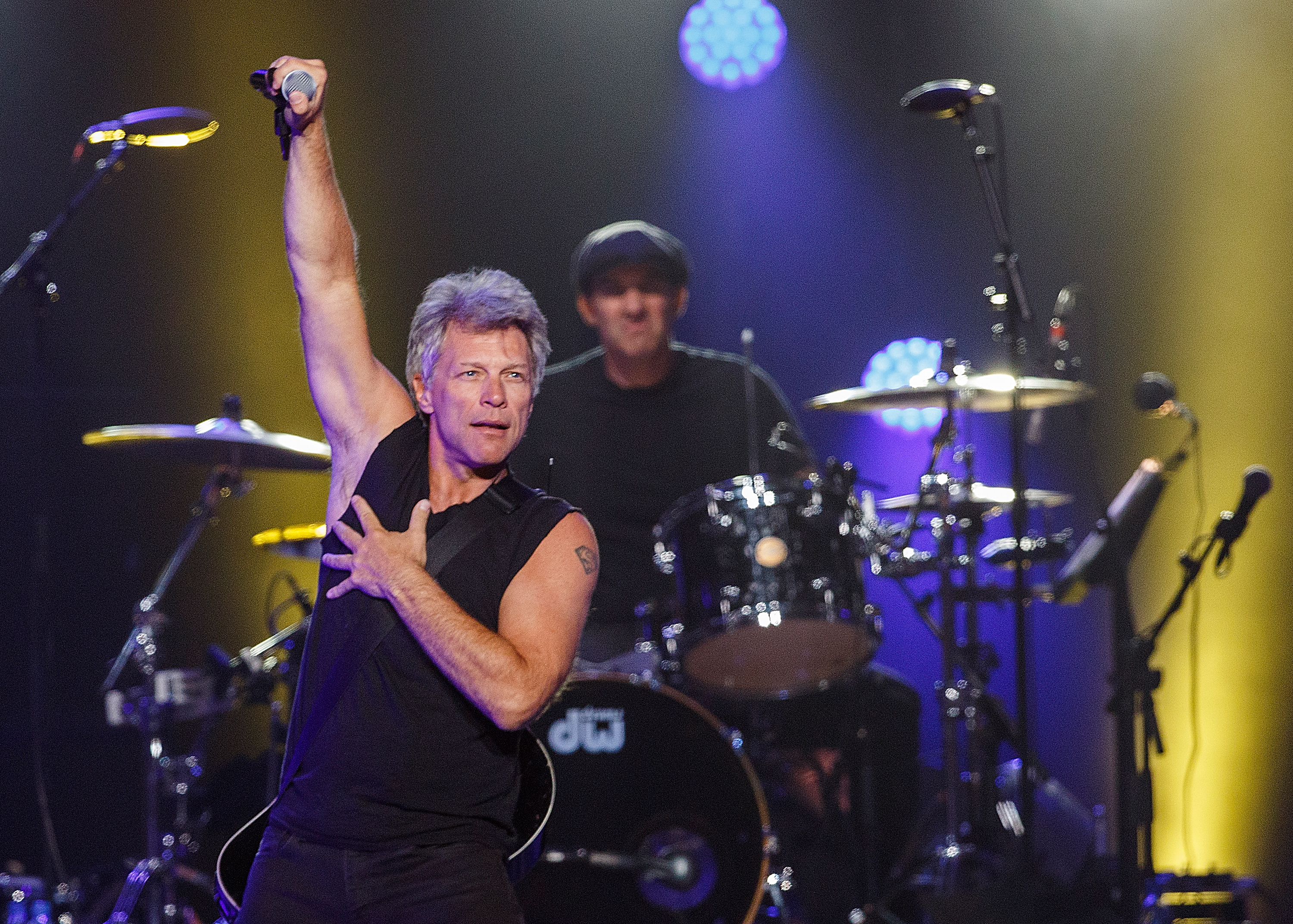 Musician Jon Bon Jovi of Bon Jovi performs onstage at Rogers Arena in Vancouver on Aug. 22, 2015